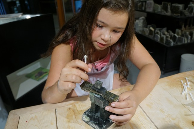 Creating an Inukshuk at Fathom Stone in Whistler