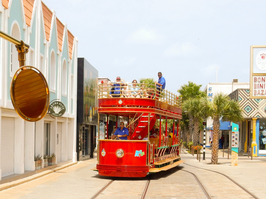 Oranjestad, Aruba - Free local trolley