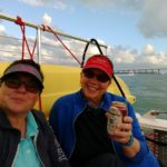 Viv and Jill enjoying a Miami Sunset Cruise with Playtime Watersports