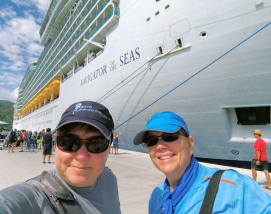 Viv and Jill - Navigator of the Seas in Labadee, Haiti