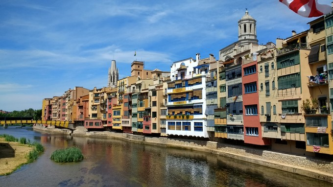 City of Girona in Catalonia, Spain