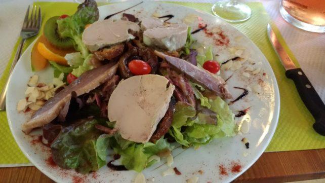 Les Trois Ours (3 Bears) Bistro - Foie Gras and Duck Salad