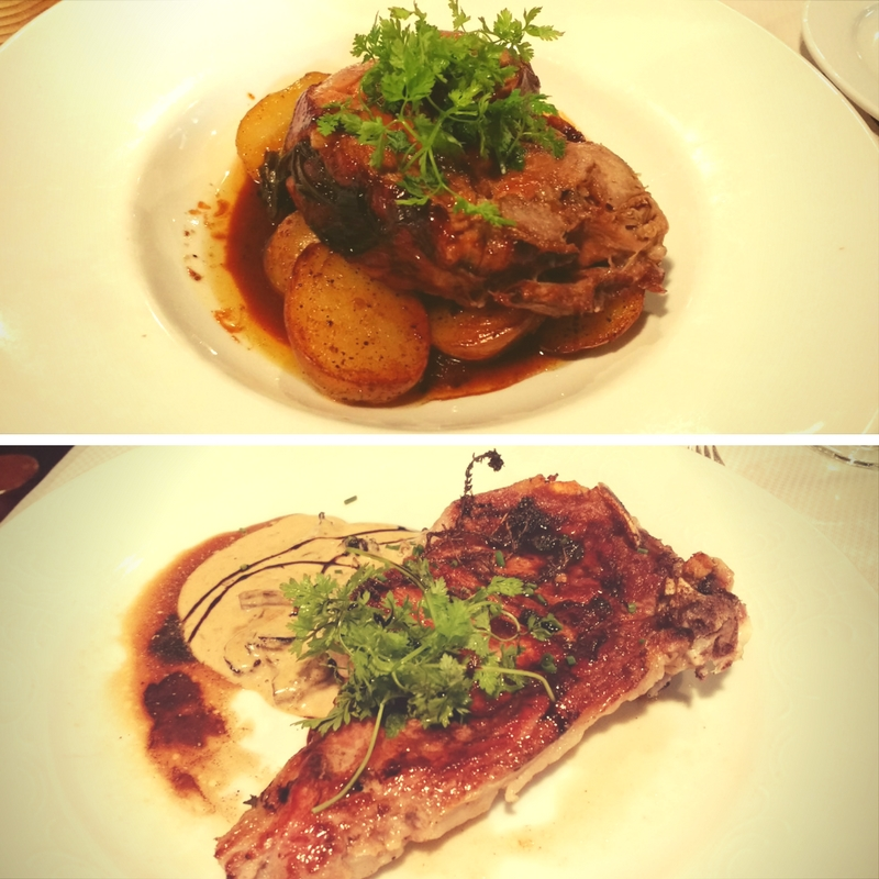 Main Course Dishes - Roasted Suckling Pig and Veal with Cep Mushrooms