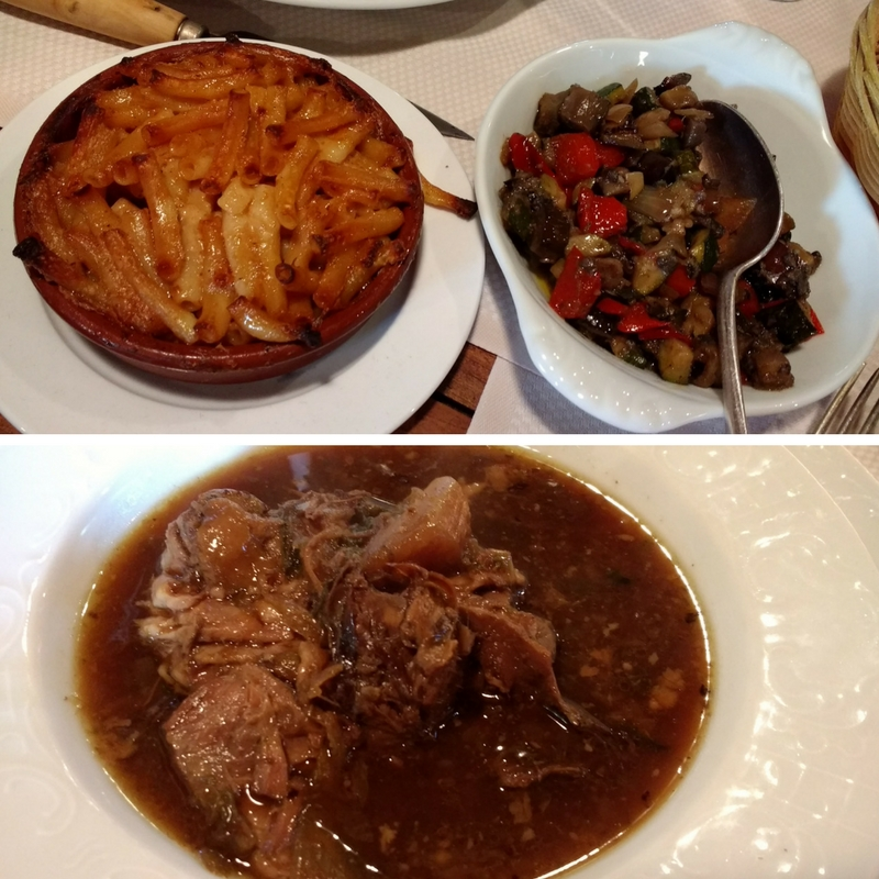 A terrine of bone soup and sides are included with every menu