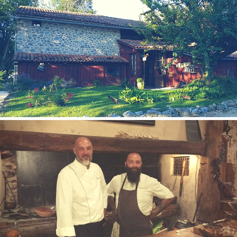 Yannick and Chef Laurent of L' Auberge d'Antan in St. Girons, Ariege Pyrenees.