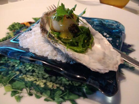 Rudi's Sel de Mer - Seared scallop amuse bouche