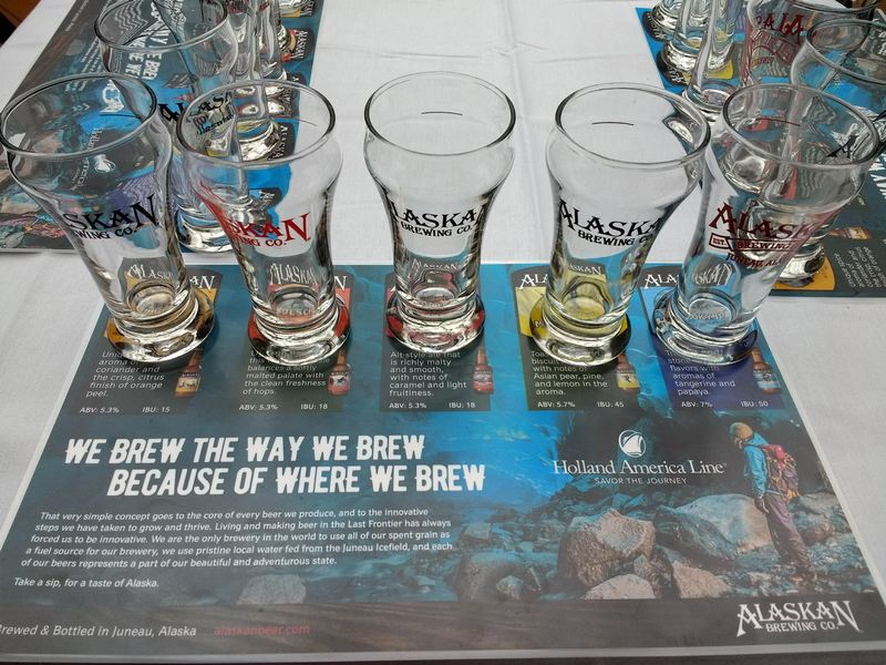Sampling Alaskan Brewing Co. Craft Beer on Holland America Noordam.