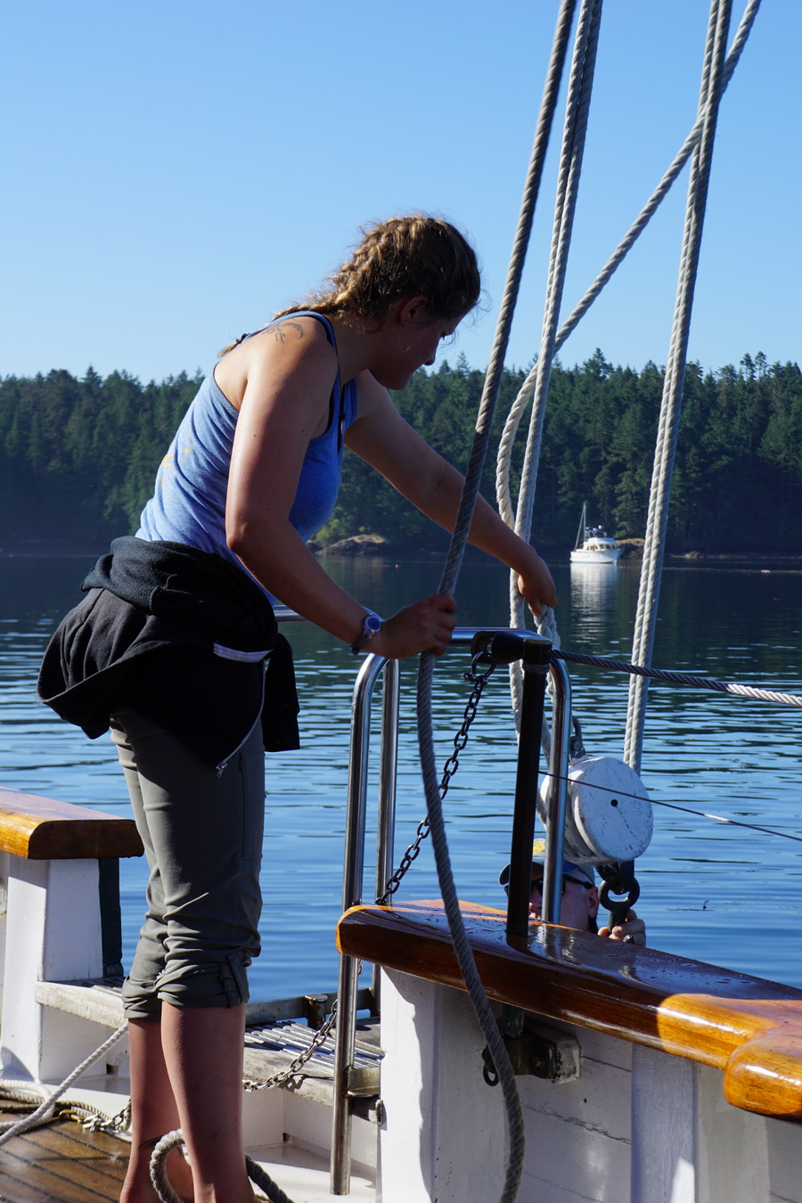 Preparing Schooner Zodiac for departure