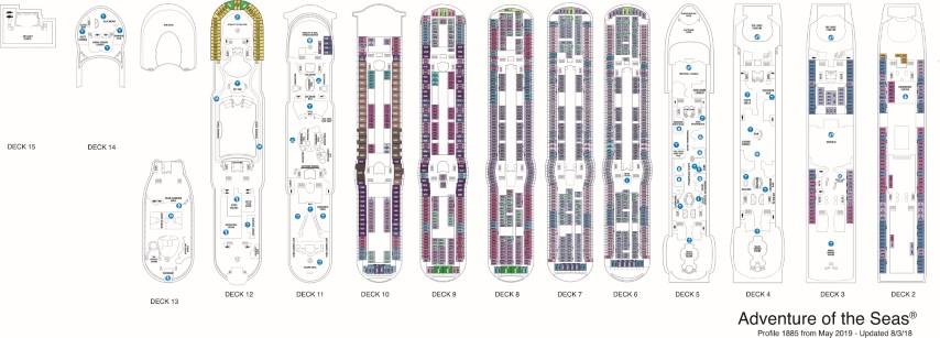 Adventure of the Seas Deck Plans