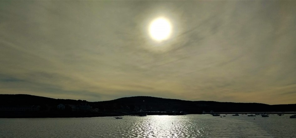 Sunset over Bar Harbor, Maine