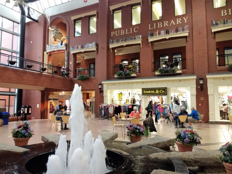 Inside Market Square in Saint John, New Brunswick