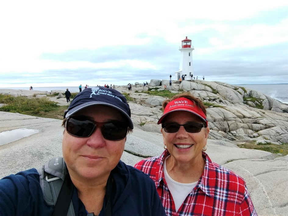 WAVEJourney - Viv and Jill - at Peggy's Cove, Nova Scotia