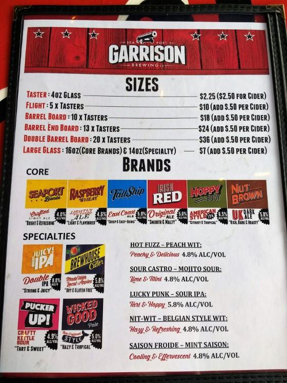 Garrison Brewery in Halifax, Nova Scotia - Craft Beer Brands