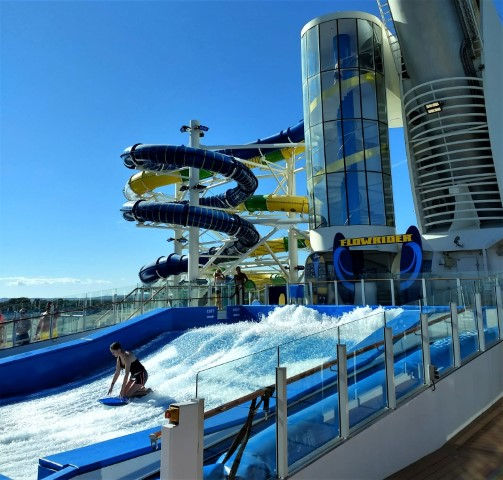 Adventure of the Seas Flow Rider and Water Slides