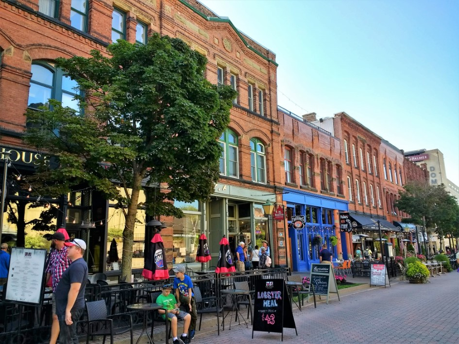 Victoria Row in Charlottetown, PEI or shopping and dining.