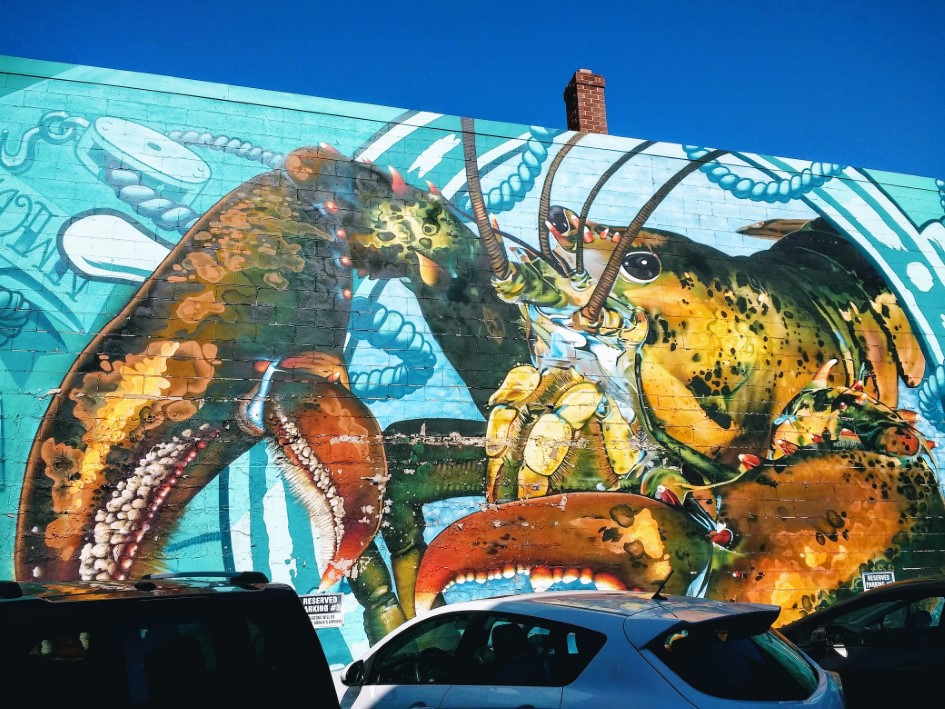 Street art and lobster!