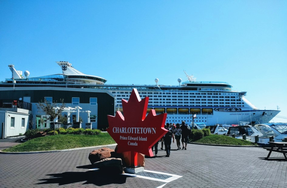 Adventure of the Seas and Cruise Terminal in Charlottetown, PEI