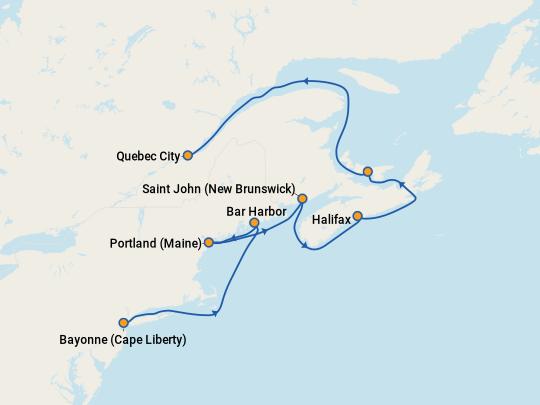 Adventure of the Seas Canada & New England Cruise