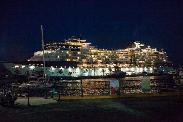 Bermuda's Royal Dockyard at Night