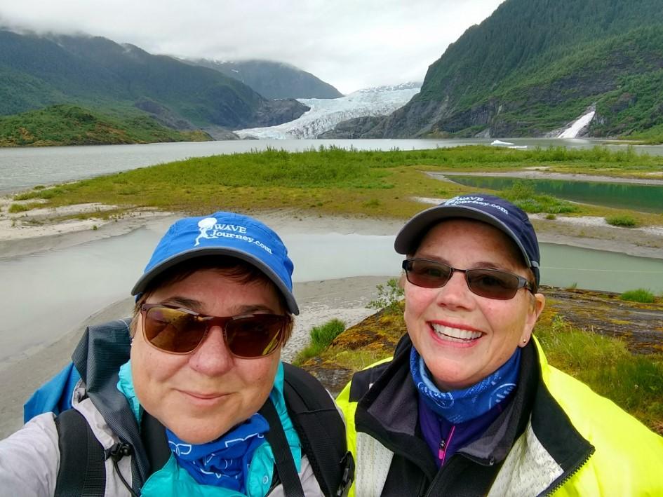 Viv and Jill in Alaska