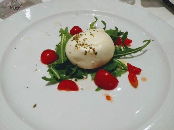 Caprese Starter at Dinner in Argientieri Restaurant
