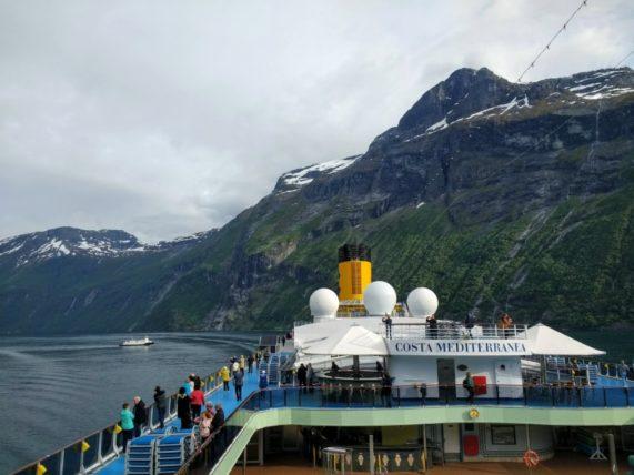 Costa Mediterranea Visits Geiranger, Norway