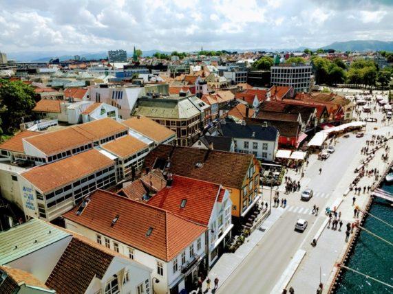 Stavanger Old Town in Norway