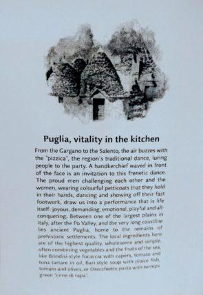 The Puglia Menu
