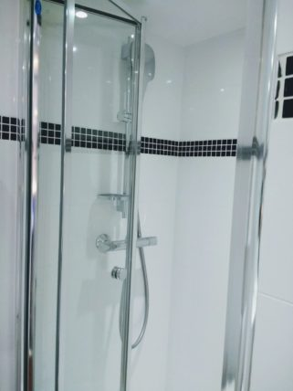 Deborah Cabin Shower in Bathroom