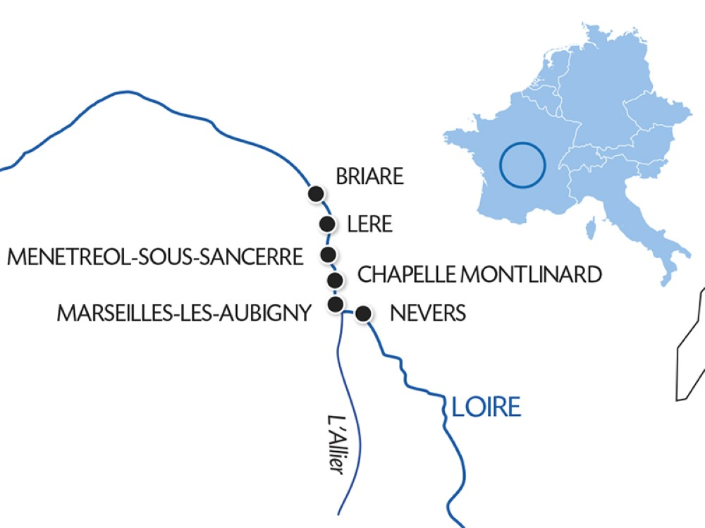 CroisiEurope Loire Canal Barge Itinerary