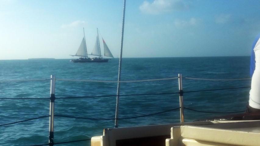 Sailing off Key West